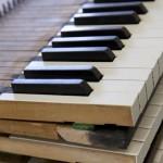 Oude klavieren detail foto