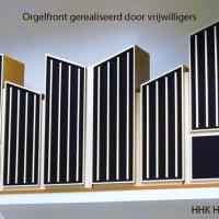 Orgelfront, gerealiseerd door vrijwilligers